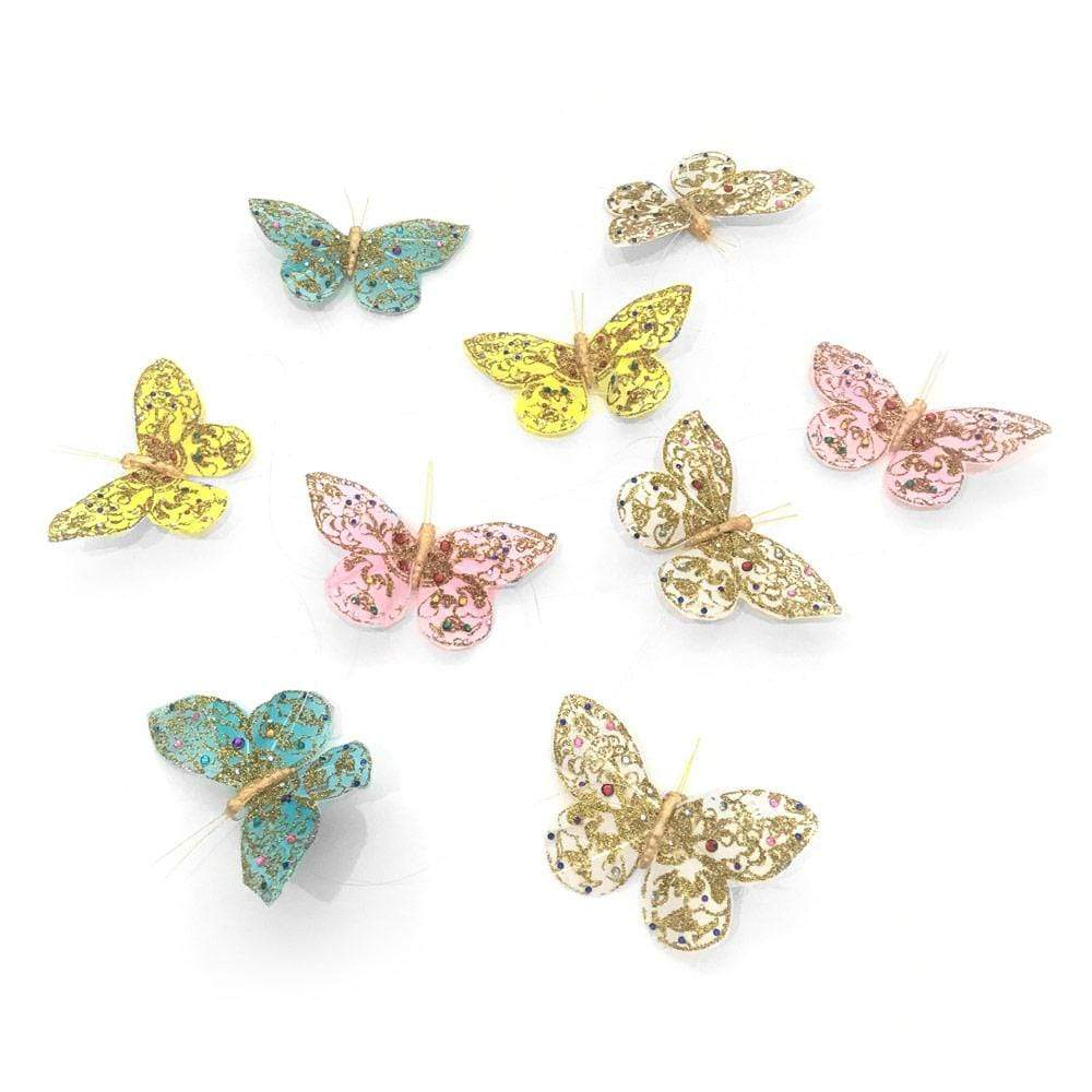 "World Buyers Butterfly Garland in Pastel Glitter & Jewels, 78"" - 1 Each"