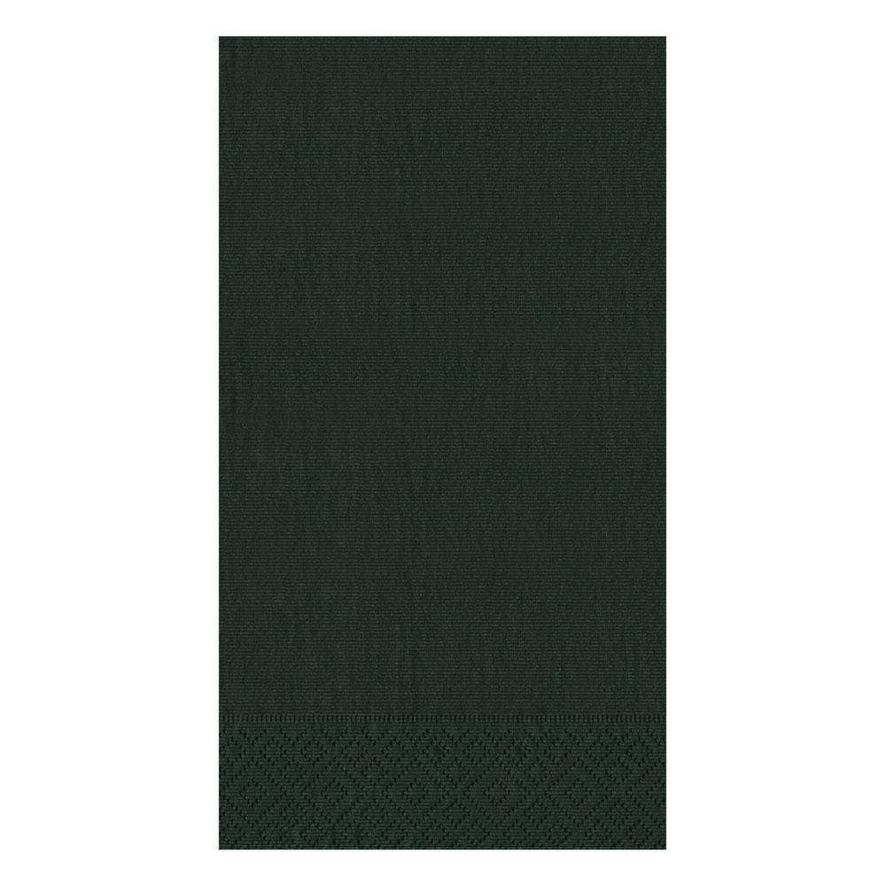 Caspari Grosgrain Paper Guest Towel Napkins in Black - 15 Per Package