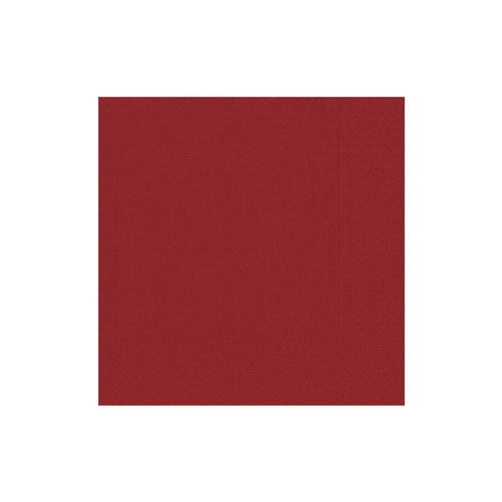 Caspari Grosgrain Paper Cocktail Napkins in Red - 20 Per Package