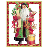 Caspari Christmas Melodies Large Boxed Christmas Cards - 16 Cards & 16 Envelopes