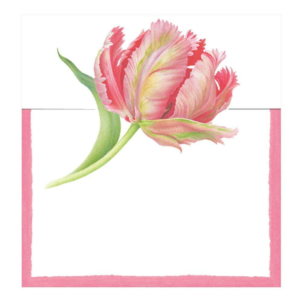 Caspari Tulip Dance Die-Cut Place Cards - 8 Per Package