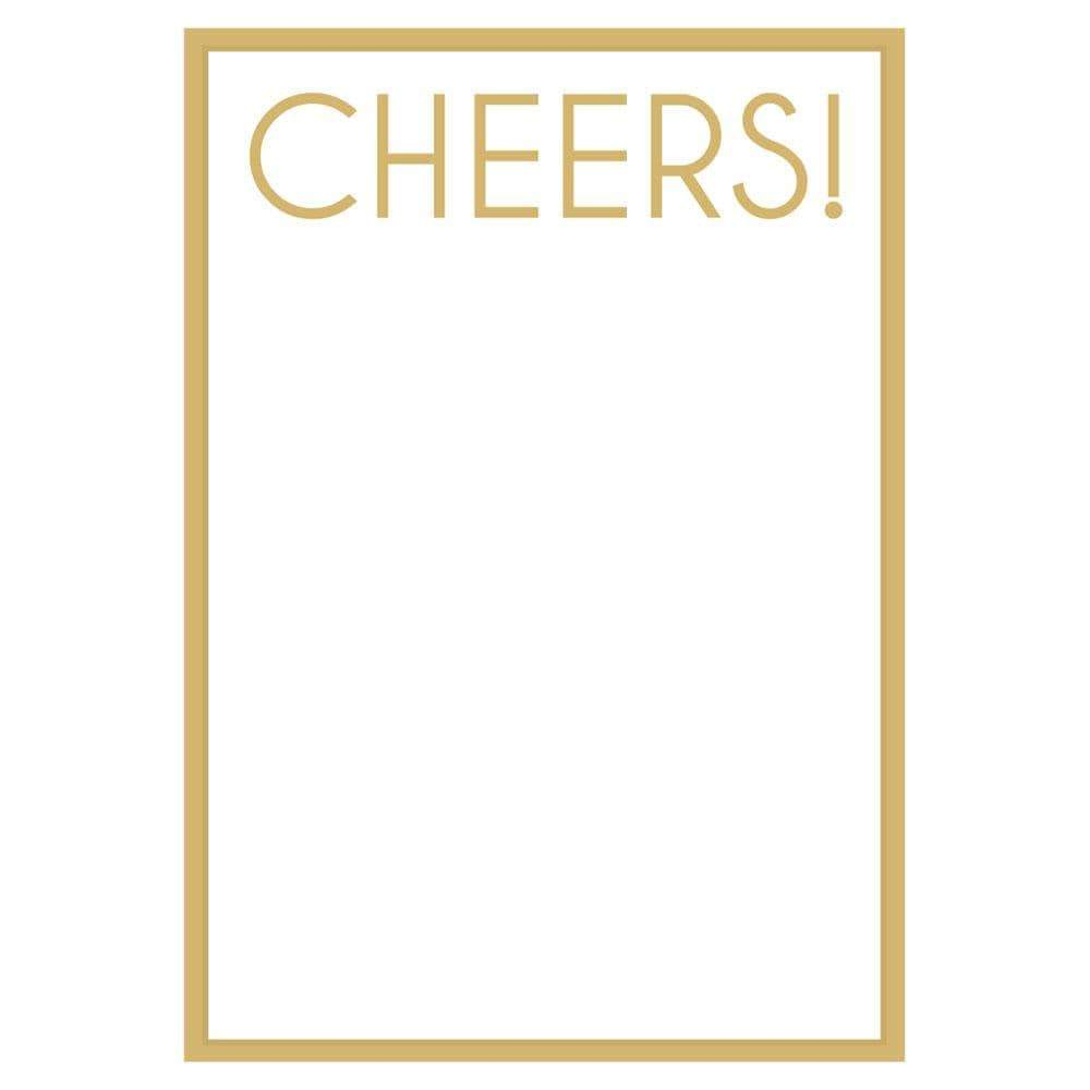 Caspari Cheers! Invitations - 8 Blank Invitations & 8 Envelopes