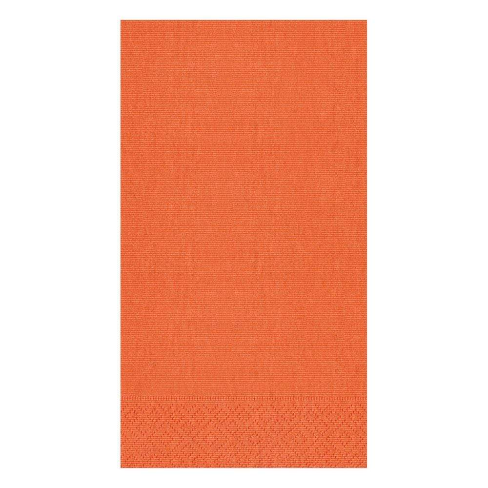 Caspari Grosgrain Paper Guest Towel Napkins in Deep Orange - 15 Per Package