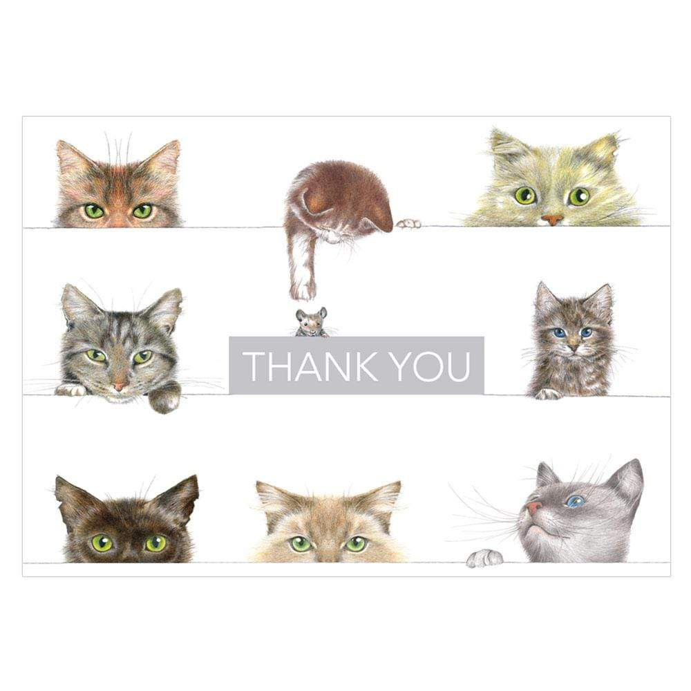 Caspari Kitties Boxed Thank You Notes - 8  Note Cards & 8 Envelopes