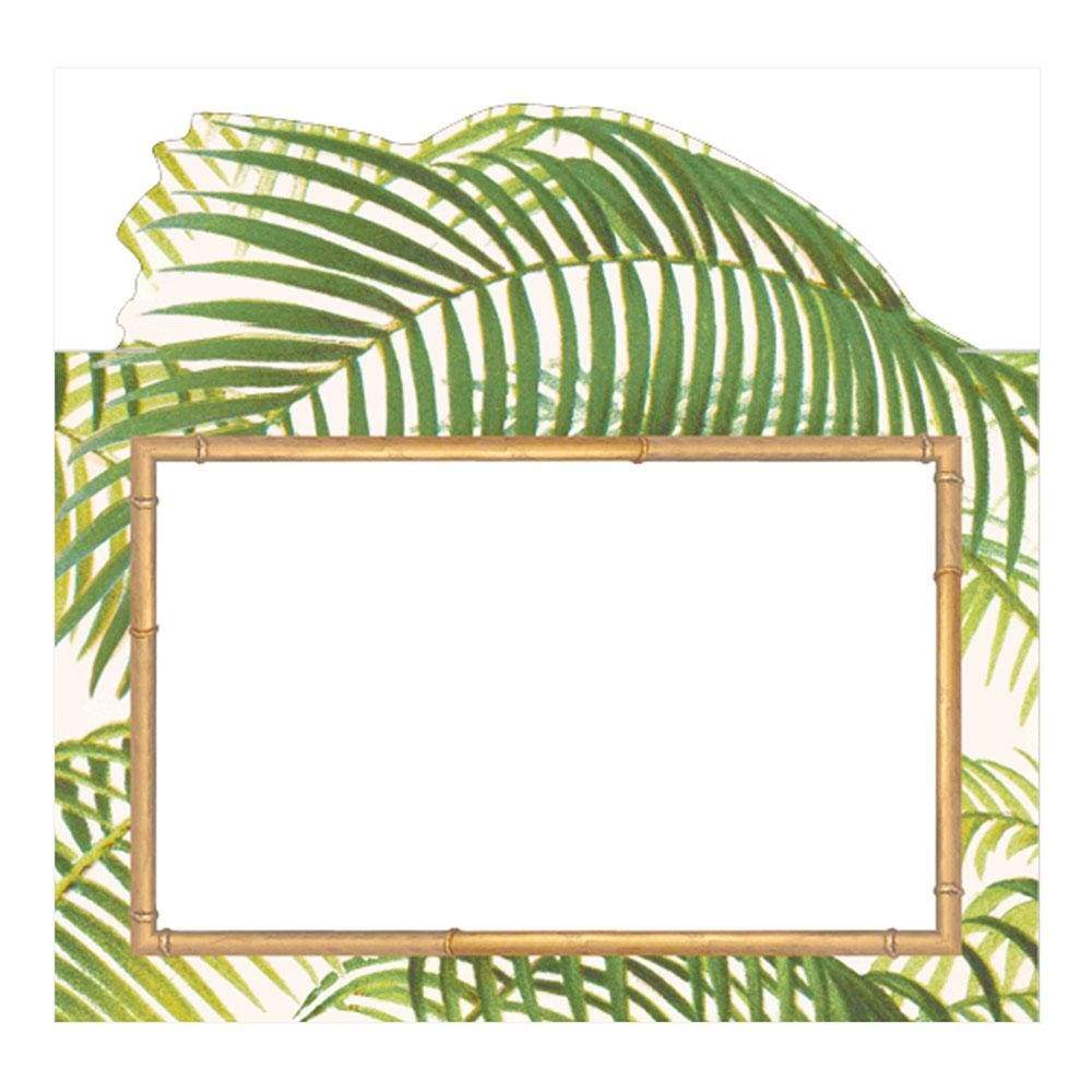 Caspari Under the Palms Die-Cut Place Cards - 8 Per Package