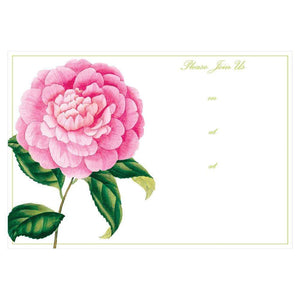 Entertaining with Caspari Tobacco Leaf Fill in Invitations with Envelopes Pack of 8