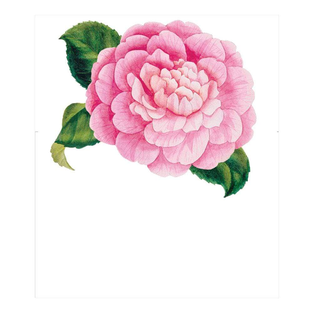 Caspari Camellias Die-Cut Place Cards - 8 Per Package