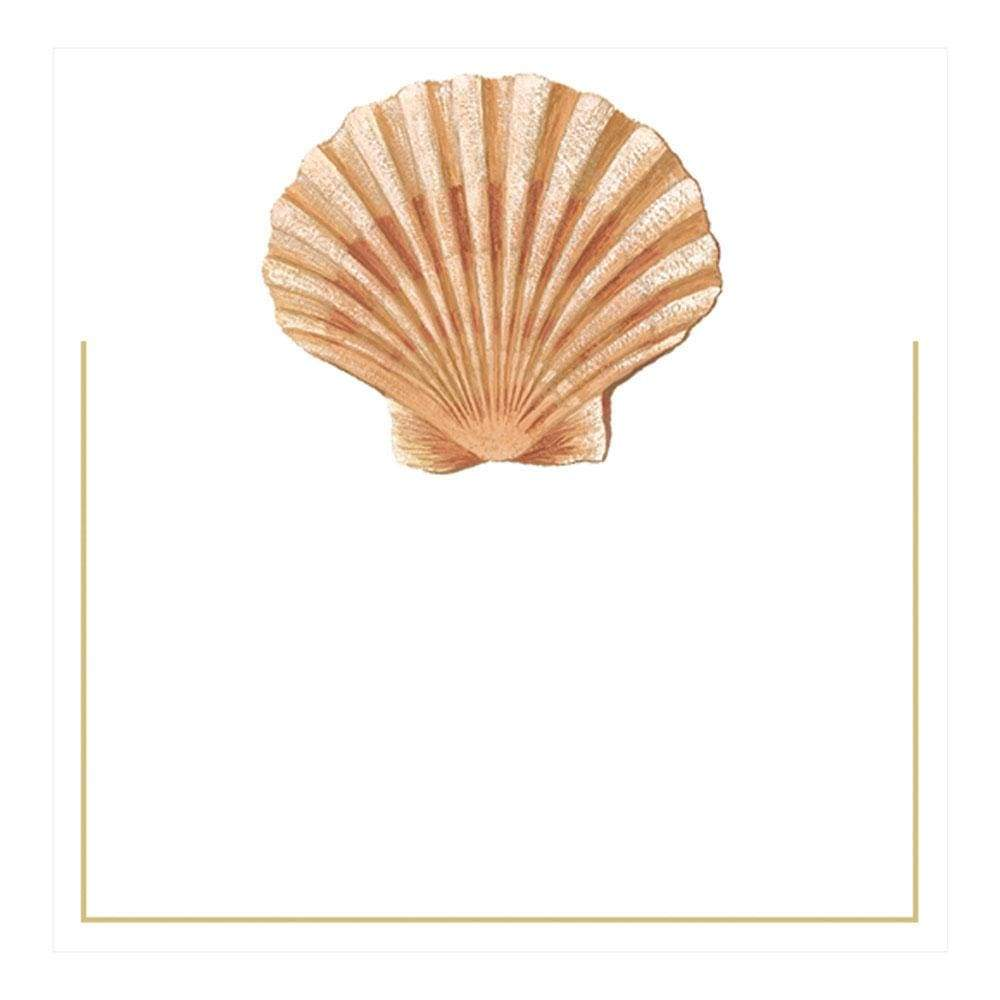 Caspari Seaside Shell Die-Cut Place Cards - 8 Per Package
