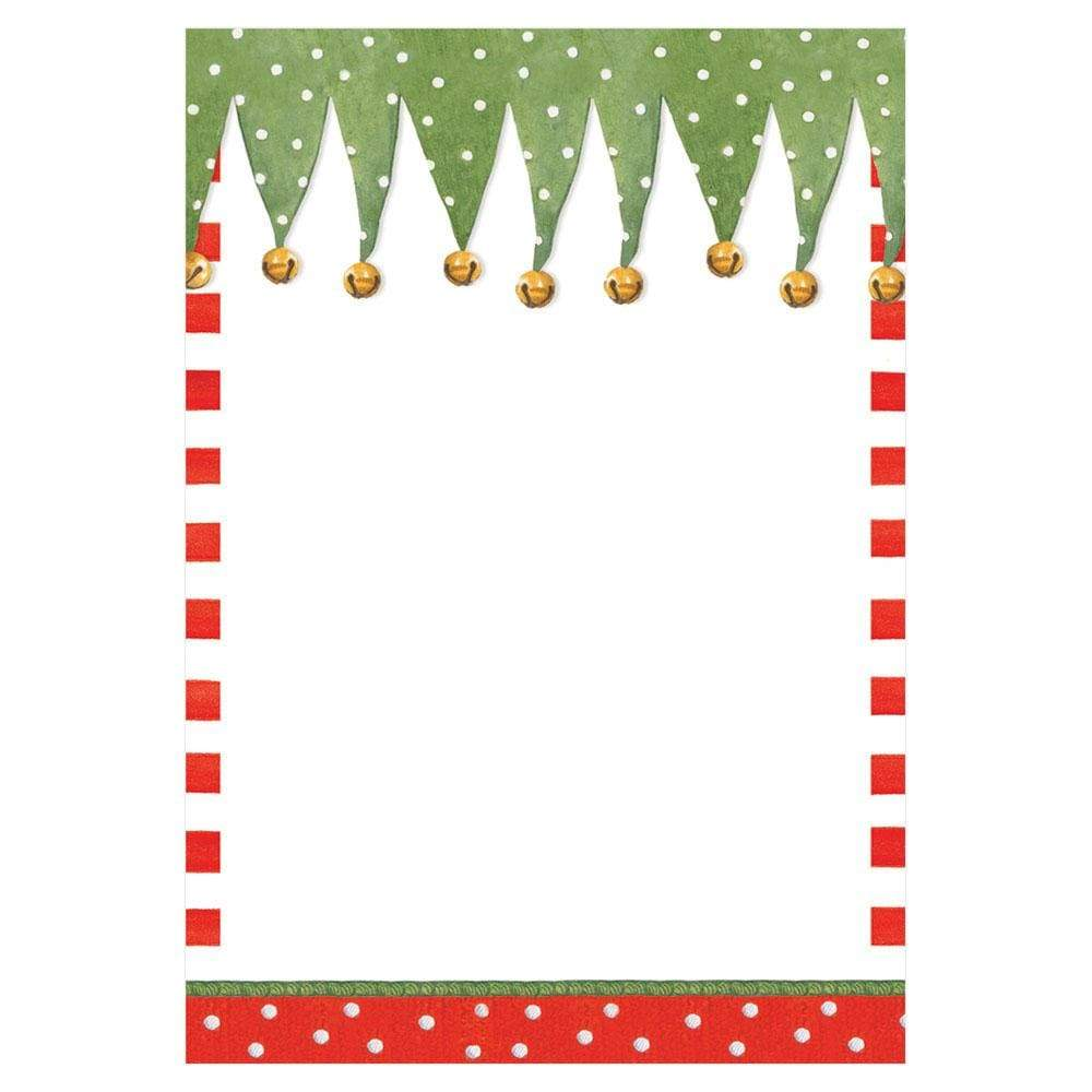 Caspari Stocking Stripe Invitations - 8 Blank Invitations & 8 Envelopes