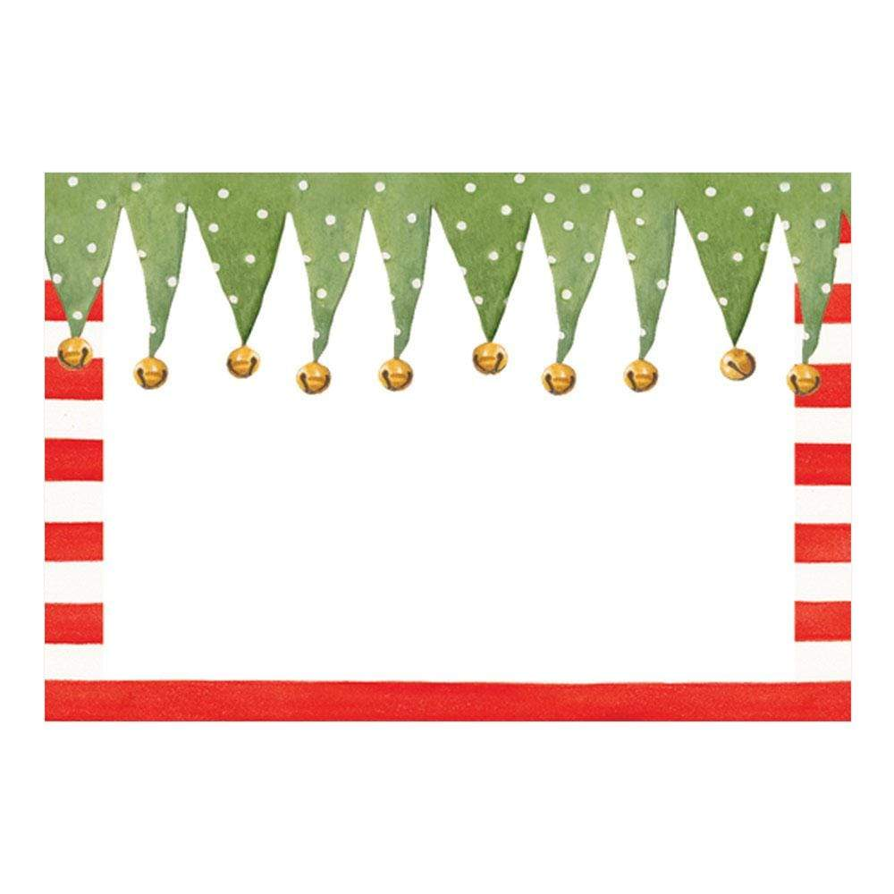 Caspari Stocking Stripe Place Cards - 10 Per Package