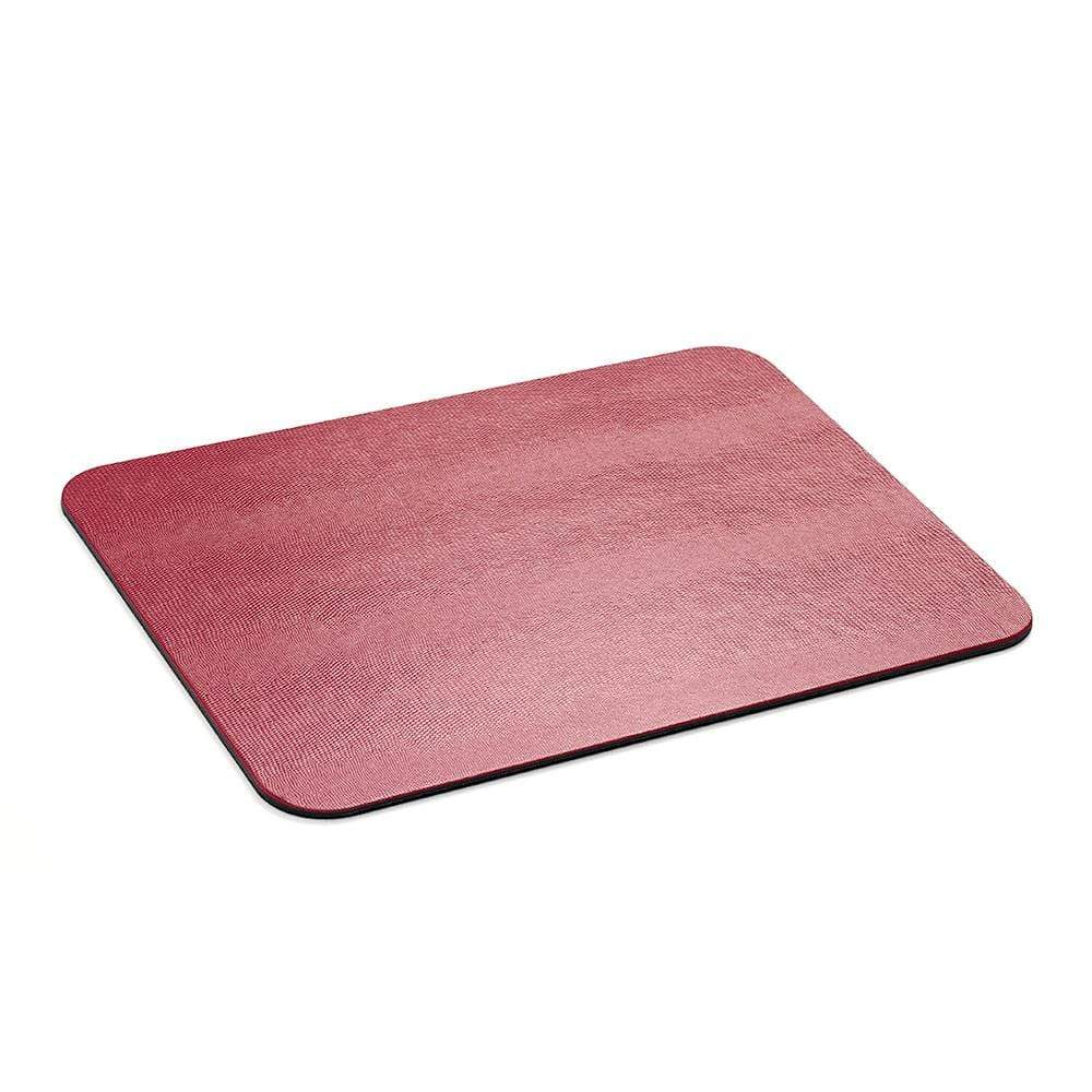Caspari Lizard Felt-Backed Placemat in Cranberry - 1 Each