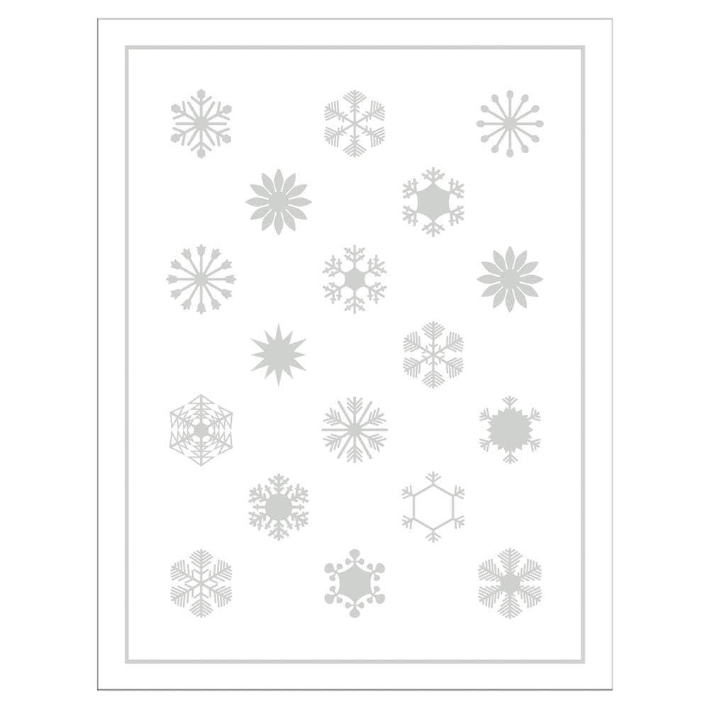 Caspari Cloud Crystals Embossed Boxed Christmas Cards - 10 Cards & 10 Envelopes