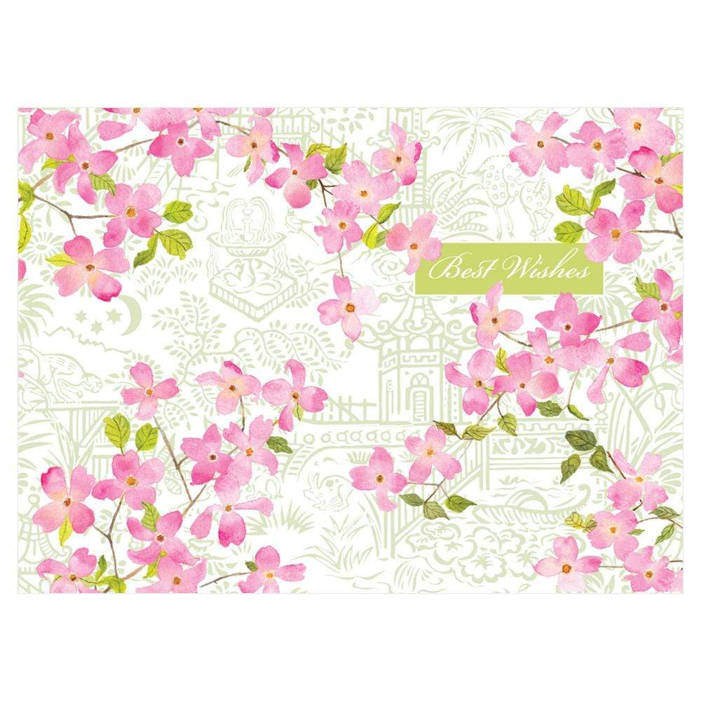 Caspari Blossoming Branches Wedding Card - 1 Card & 1 Envelope