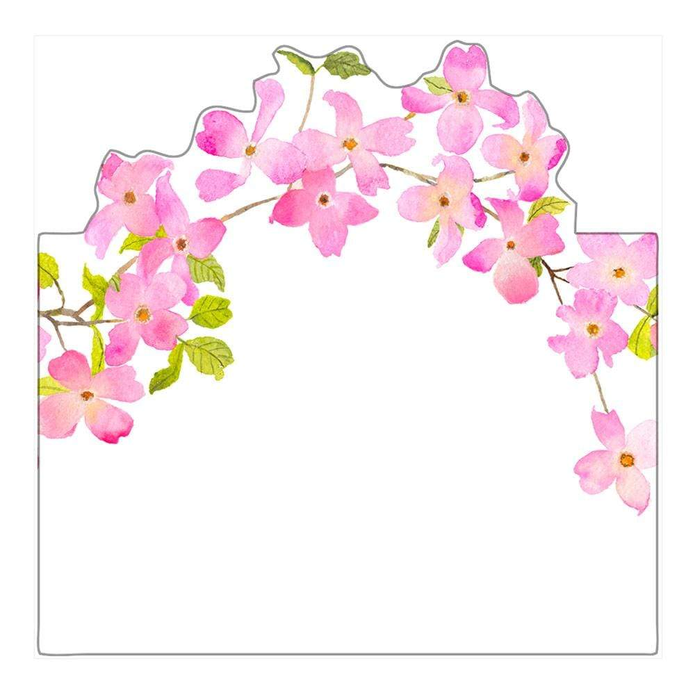 Caspari Blossoming Branches Die-Cut Place Cards - 8 Per Package