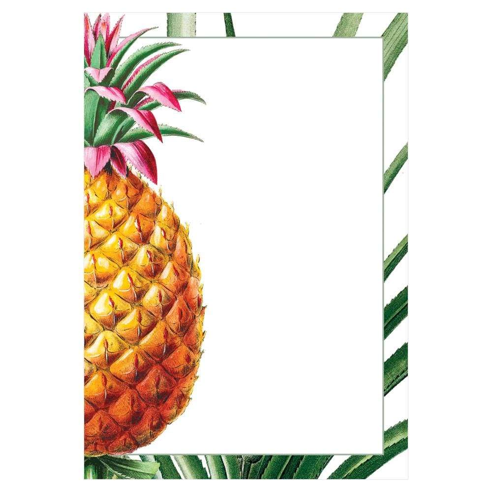 Caspari Tropical Fruit Invitations - 8 Blank Invitations & 8 Envelopes