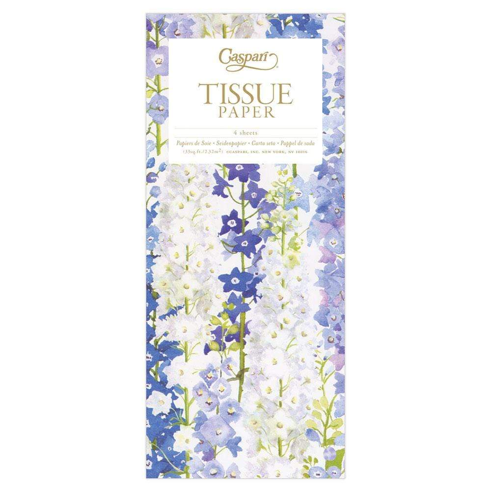 Caspari Delphiniums Tissue Paper - 4 Sheets Included