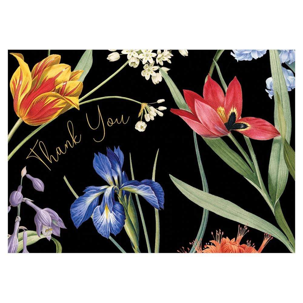 Caspari Redoute Floral Thank You Notes - 8 Note Cards & 8 Envelopes
