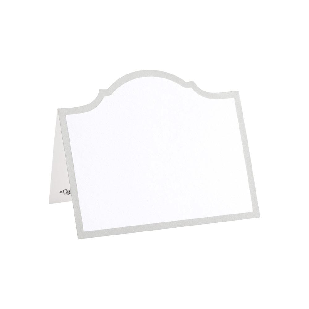 Caspari Arch Die-Cut Place Cards in Silver Foil - 8 Per Package 91901P