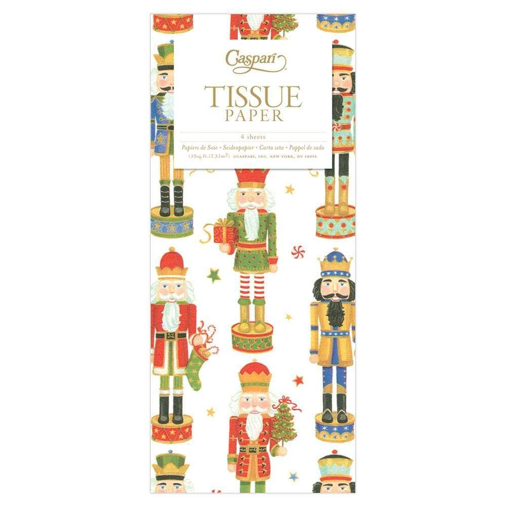 Caspari Nutcracker Parade Tissue Paper - 4 Sheets Included
