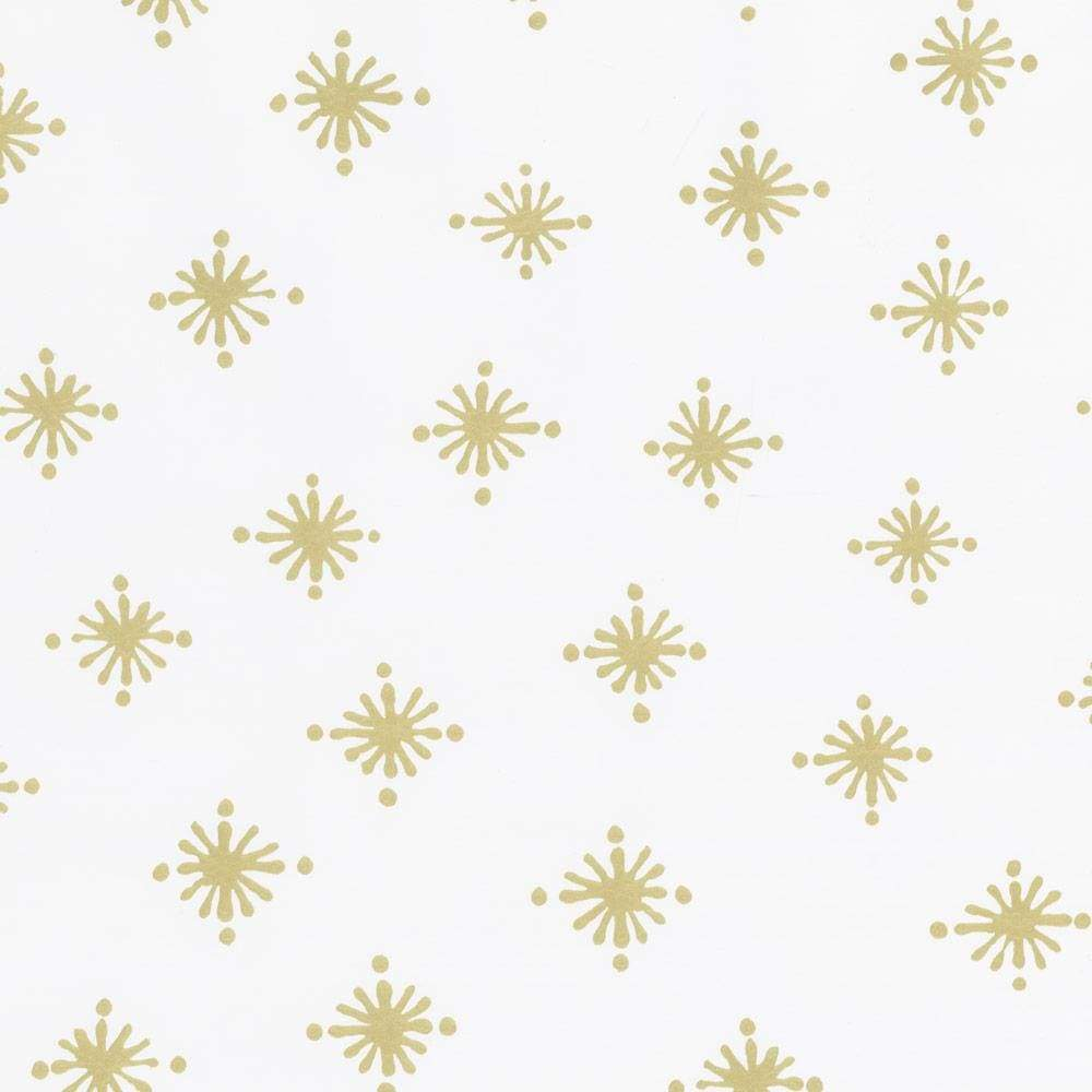 "Caspari Starry Gift Wrap Roll in Ivory Soft Touch Paper - 30"" x 8' Roll"
