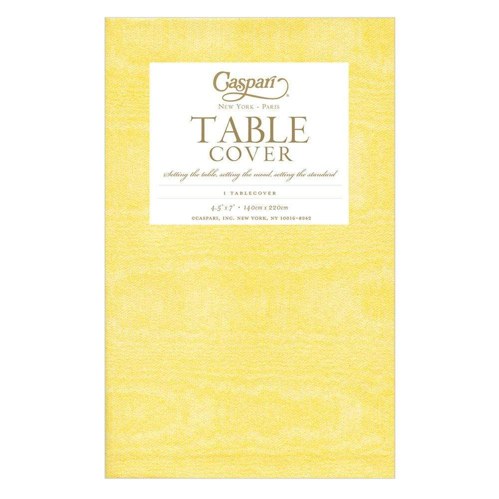 Moiré Paper Table Cover in Yellow - 1 Each