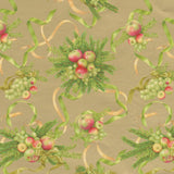 "Apples and Greenery Gift Wrapping Paper in Gold - 30"" x 8' Roll"