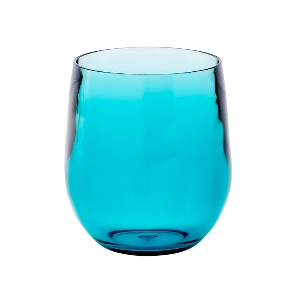 Caspari Acrylic 12oz Tumbler Glass in Turquoise - 1 Each ACR102