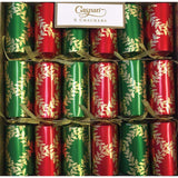 Caspari Acanthus Trellis Celebration Christmas Crackers - 6 Per Box