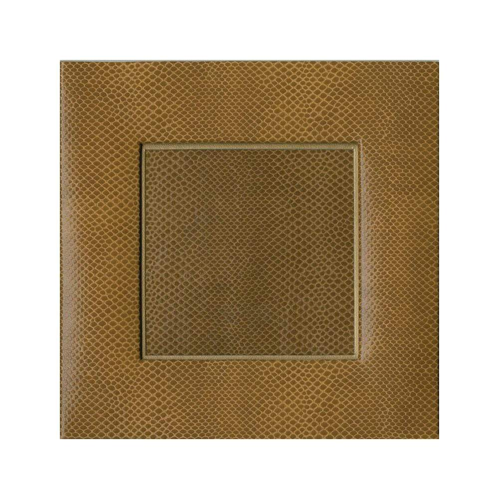 "Caspari Snakeskin 4"" Square Picture Frame in Cognac - 1 Each"