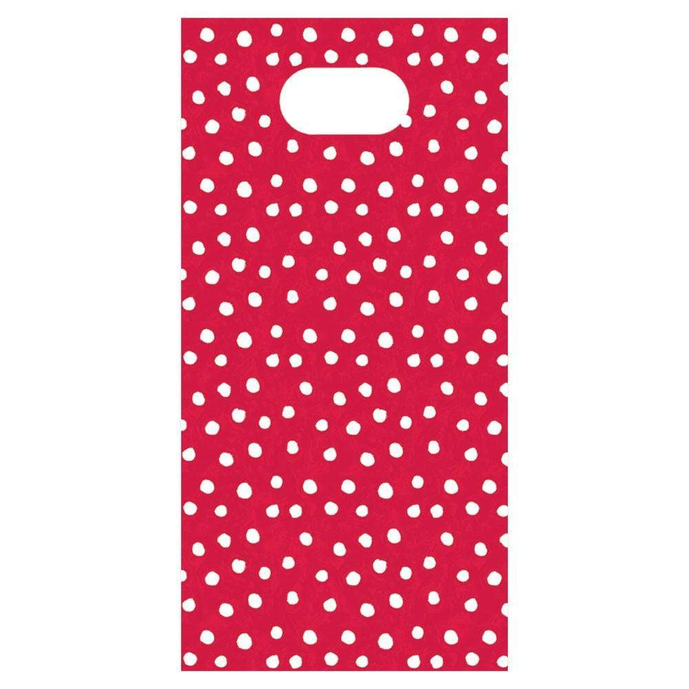Caspari Small Dots Favor Bags in Red - 8 Per Package