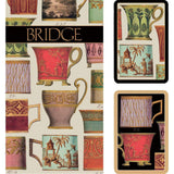 Caspari Salon de Thé Bridge Gift Set - 2 Playing Card Decks & 2 Score Pads