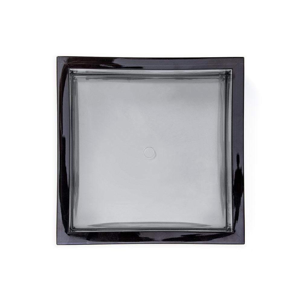 Caspari Acrylic Cocktail Napkin Holder in Smoke - 1 Each