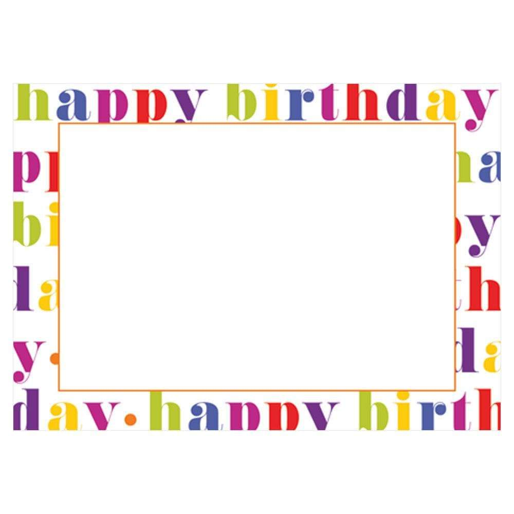 Caspari Happy Birthday Self-Adhesive Labels - 12 Per Package