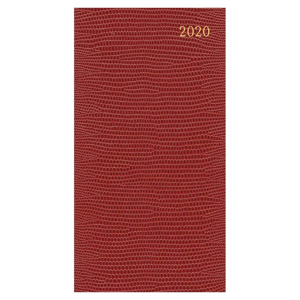Caspari Lizard 2020 Slim Diary & Planner in Cranberry - 1 Each