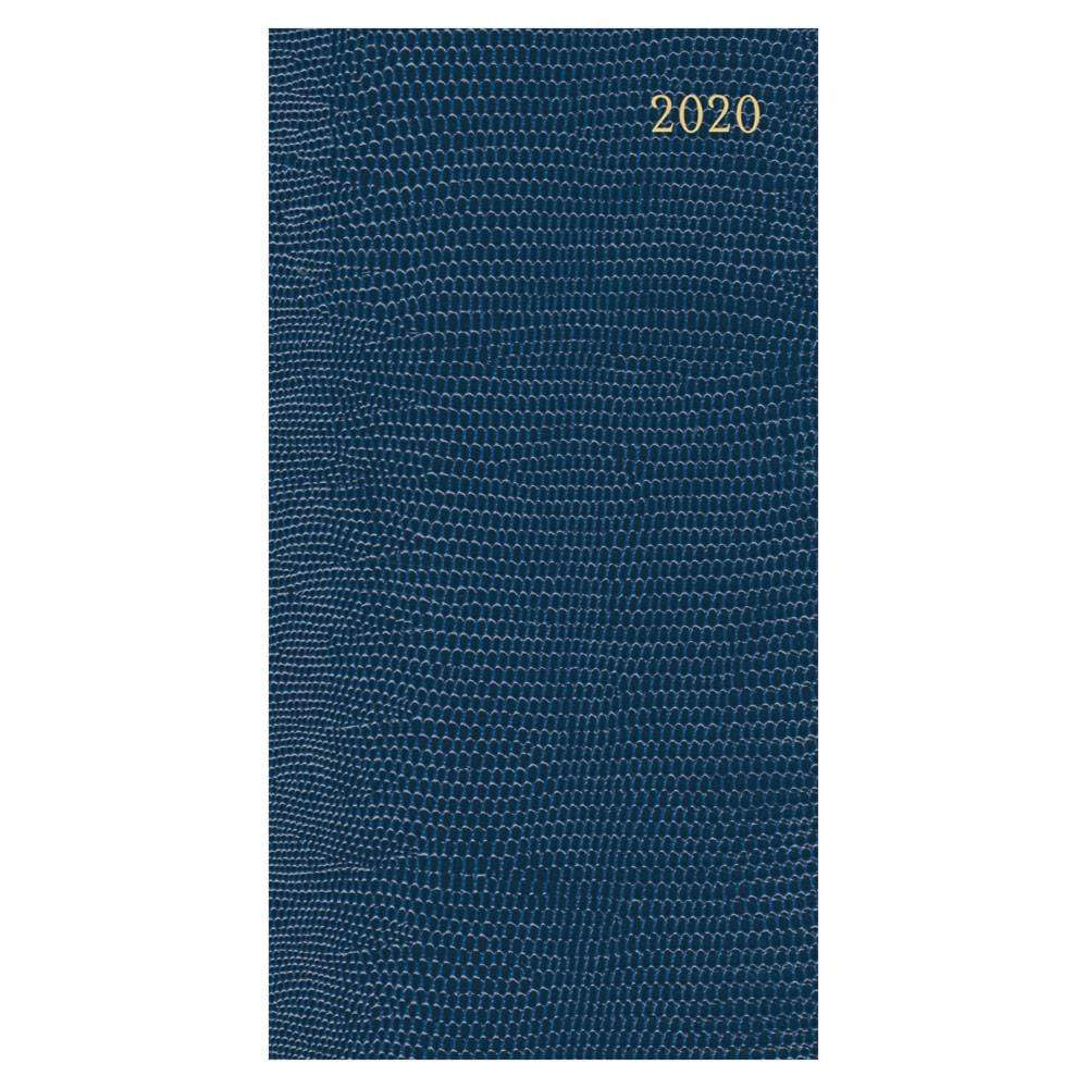Caspari Lizard 2020 Slim Diary & Planner in Navy - 1 Each
