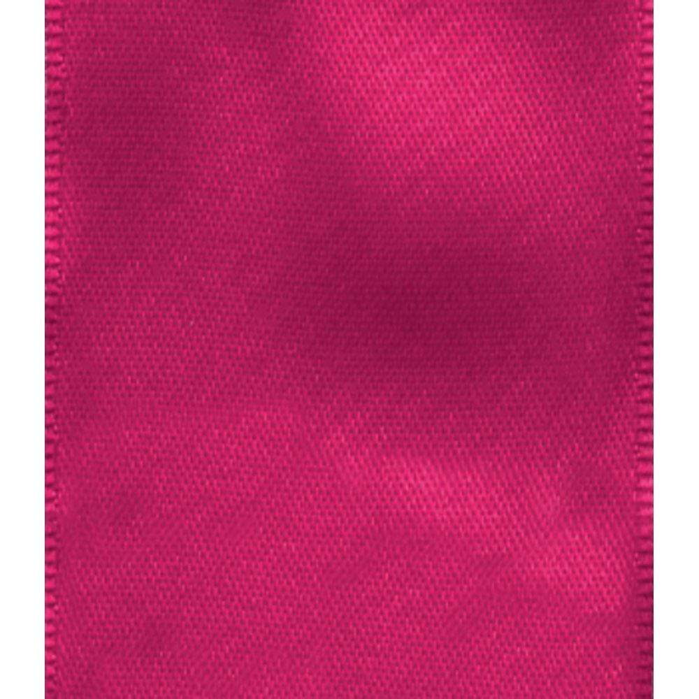 Caspari Solid Fuchsia Satin Wired Ribbon - 9 Yard Spool