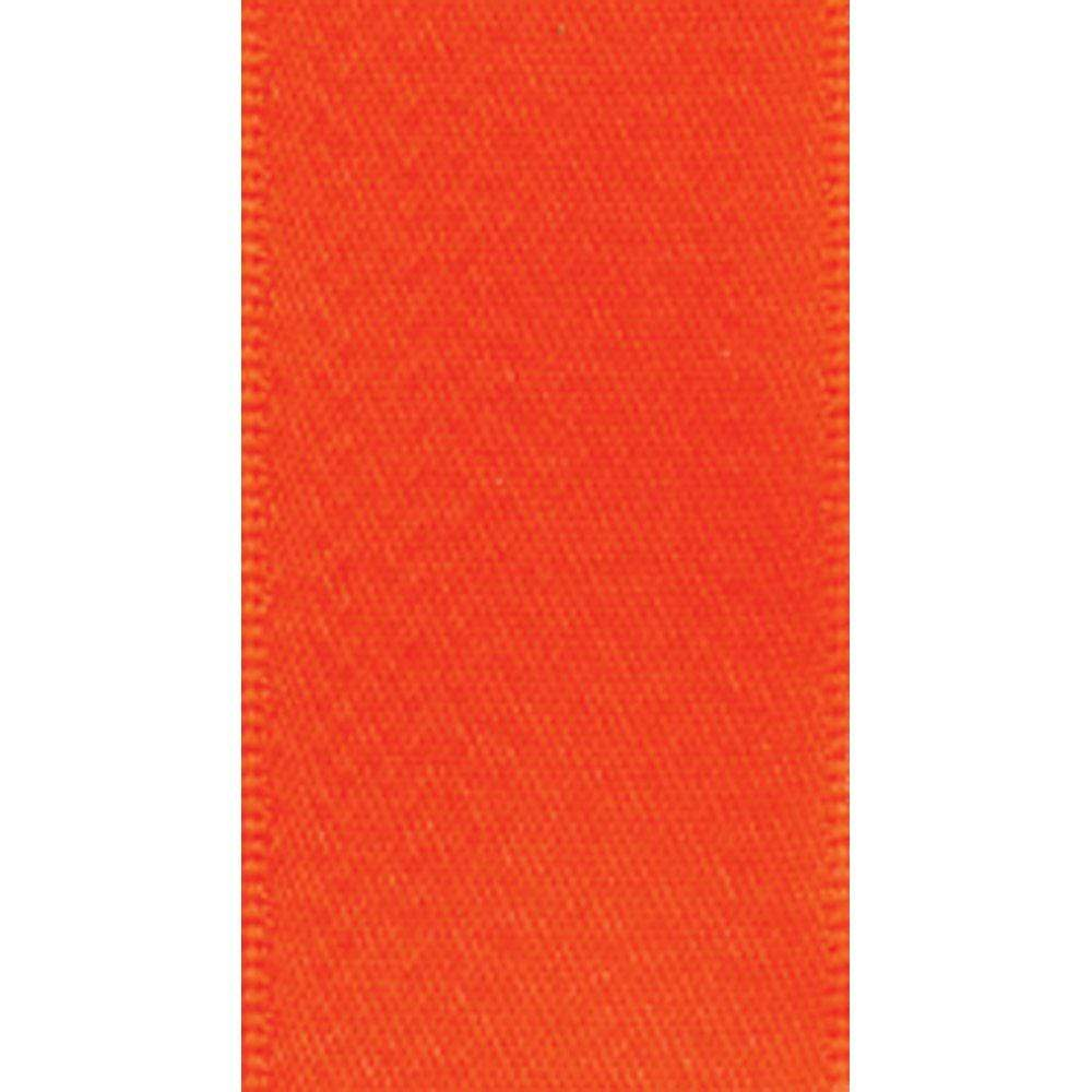 Caspari Narrow Solid Orange Satin Ribbon - 8 Yard Spool