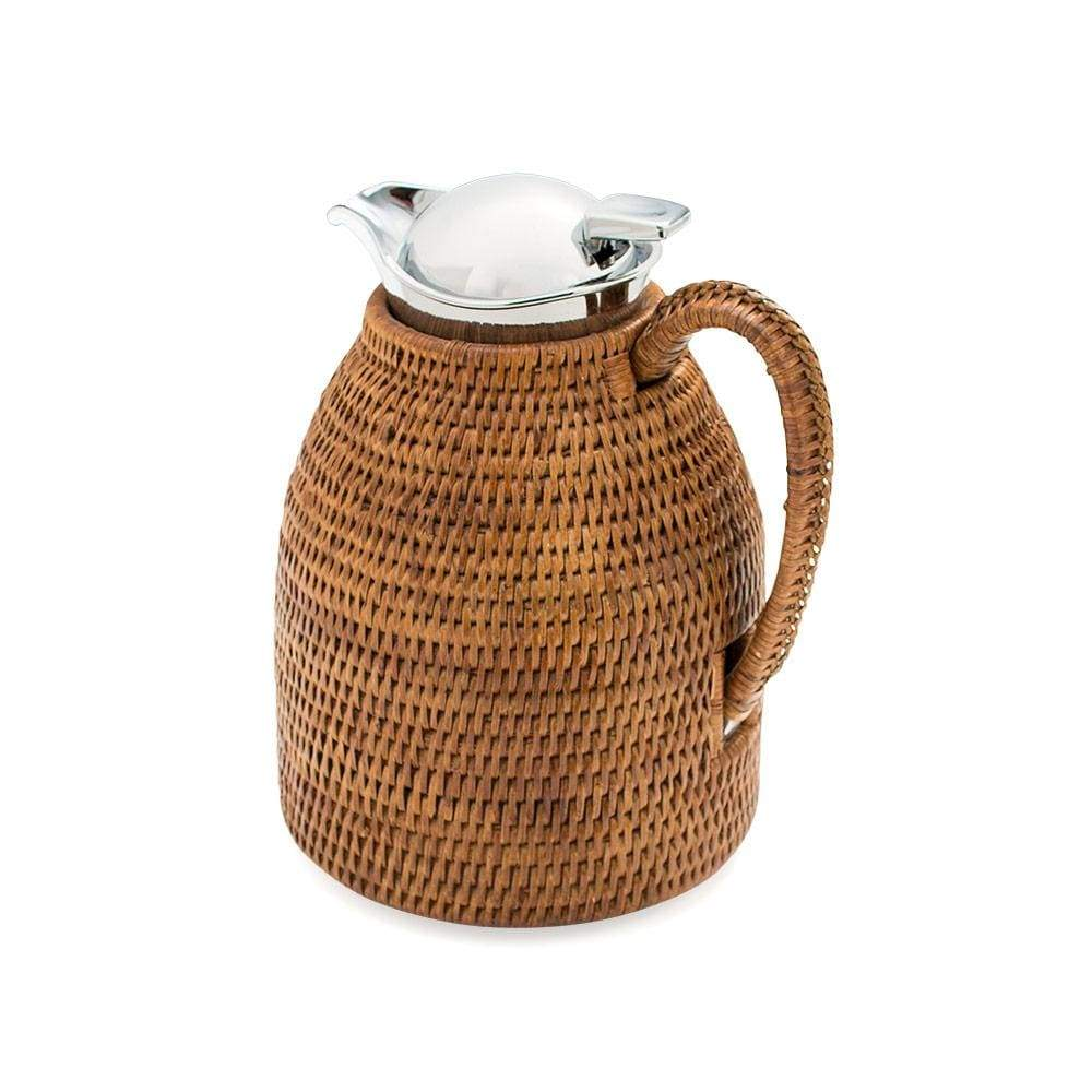 Small Rattan Coffee and Tea Carafe in Dark Natural - 1 Each