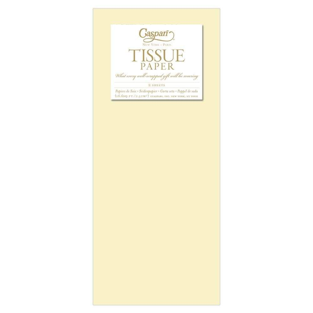 Caspari Solid Tissue Paper in Pale Yellow - 8 Sheets Included