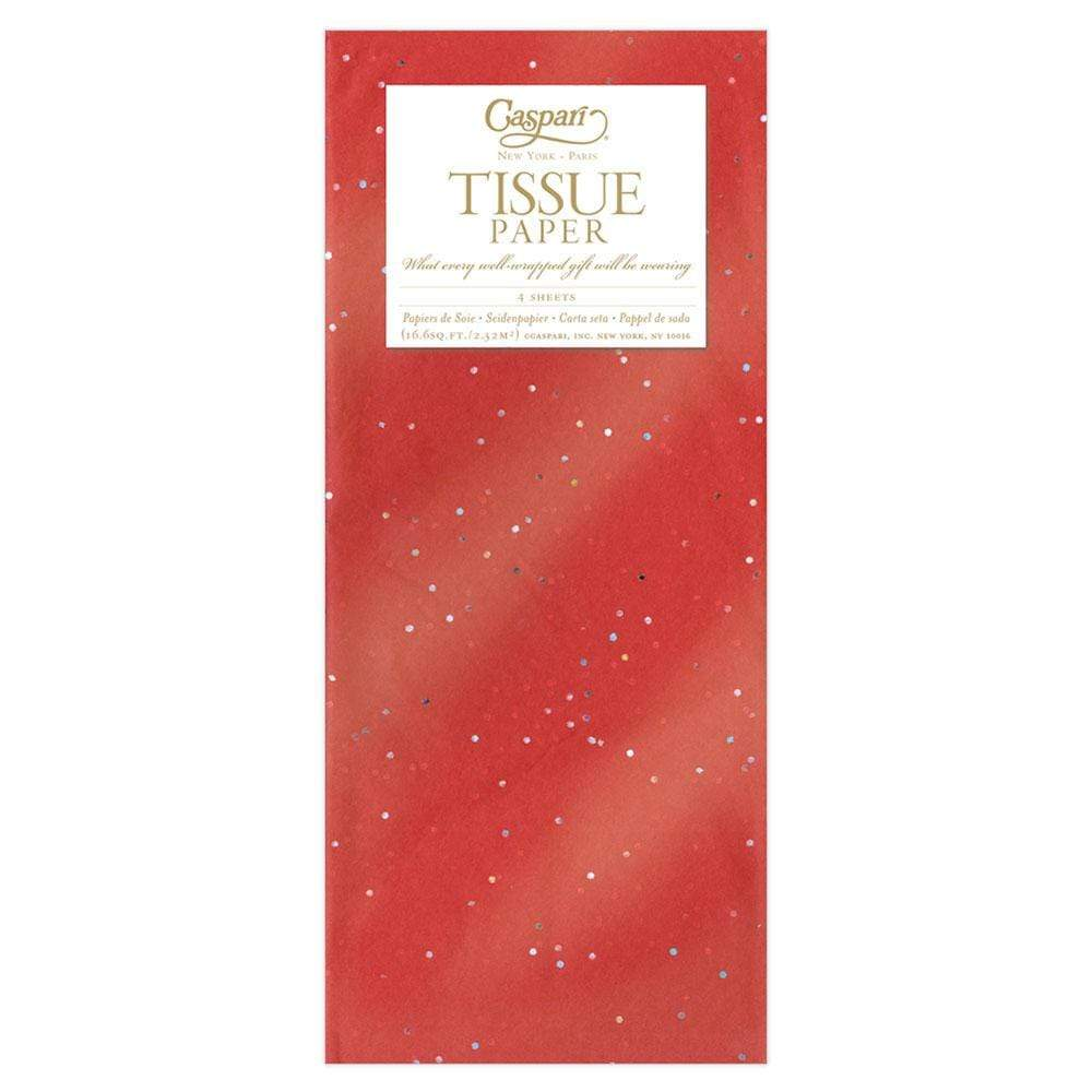 Caspari Solid Tissue Paper in Red Gemstone - 4 Sheets Included