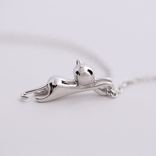 Genuine Kitty Pendant and Necklace