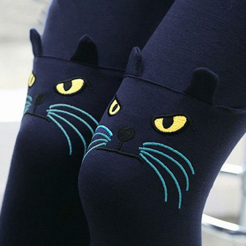 Yup! there's a cat face in my legs