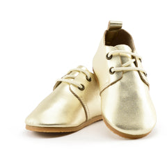 Goldie - Premium Leather Oxfords - Hard Sole