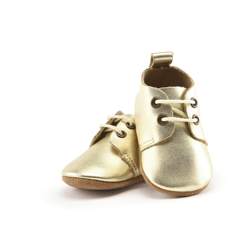 Goldie - Premium Leather Oxfords - Soft Sole