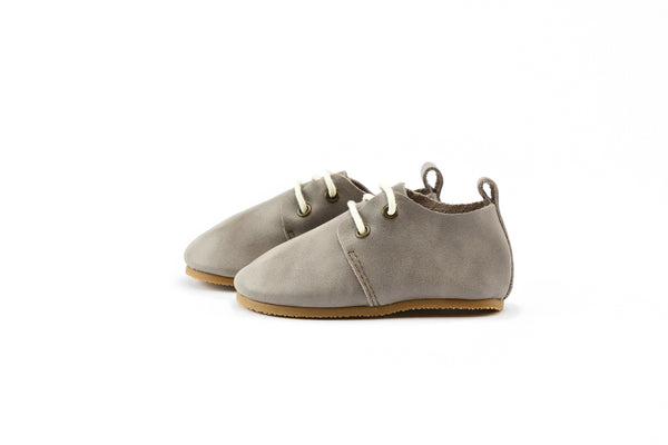 Stone - Premium Leather Oxfords - Hard Sole