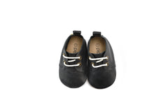 Black - Premium Leather Oxfords - Soft Sole