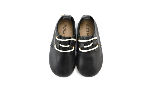 Black - Premium Leather Oxfords - Hard Sole