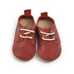 Burgundy - Premium Leather Oxfords - Soft Sole