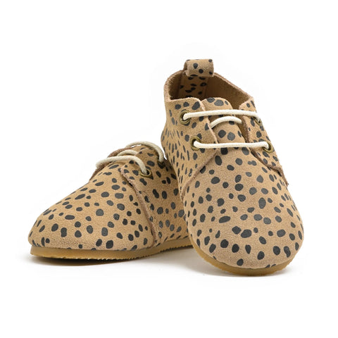 Cheetah - Premium Leather Oxfords - Hard Sole