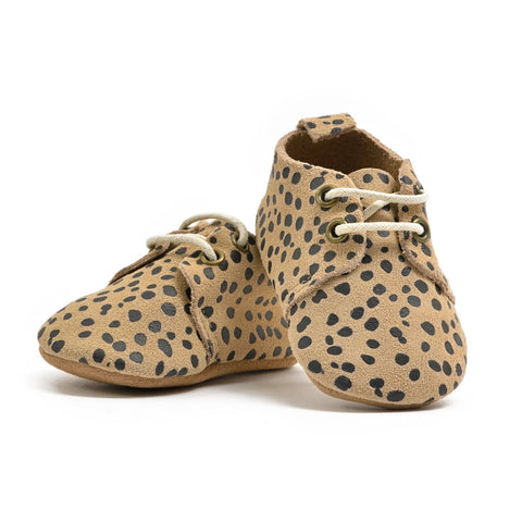 Cheetah - Premium Leather Oxfords - Soft Sole